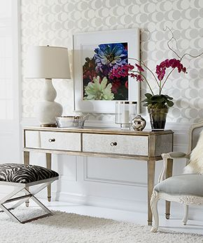Ethan Allen Entryway Here Our Vivica Console Is Glammed Up With A