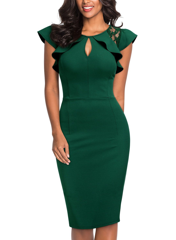 Women's Formal Work Pencil Dresses,Cocktail Party Bodycon Dresses… |  Vestidos formales para señoras, Vestidos para señoras gorditas, Vestidos  elegantes para señoras