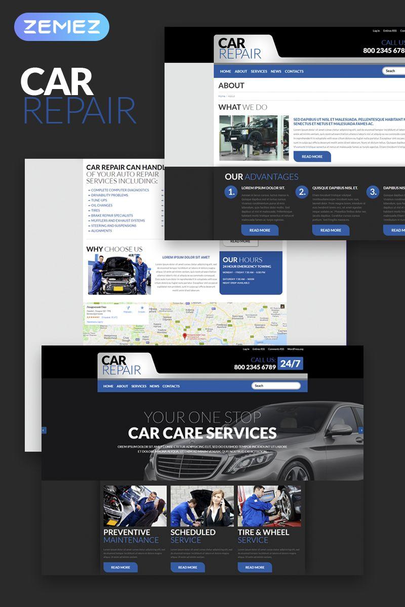 Car Repair Wordpress Theme Auto Repair Wordpress Theme Repair