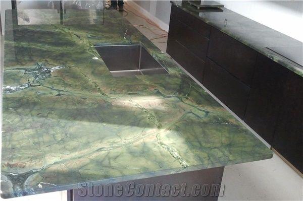 Vitoria Regia Quartzite Countertop Green Countertops Granite Stone