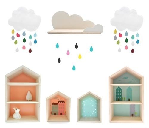 Decoraci n infantil objetos decorativos en forma de casa for Objetos decoracion habitacion bebe