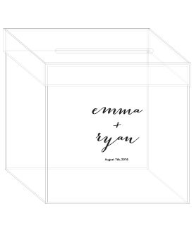 Sample Of Phantom Wishing Well Wedding Card Box Message Design