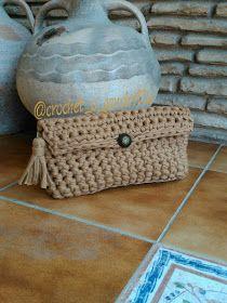 bolso de trapillo a crochet