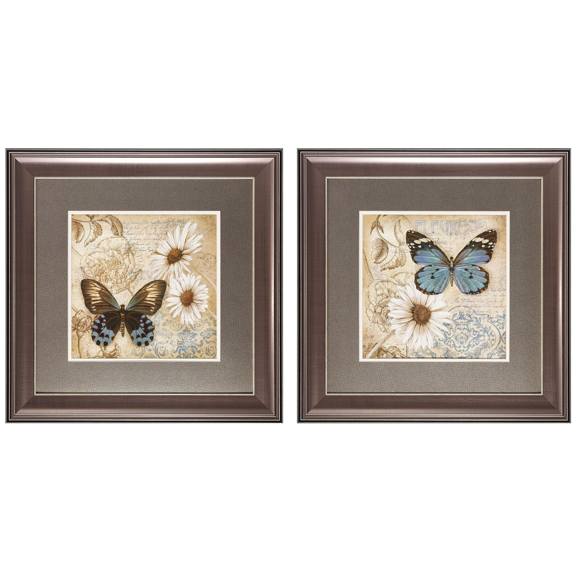 Garden iii piece framed painting print set products pinterest