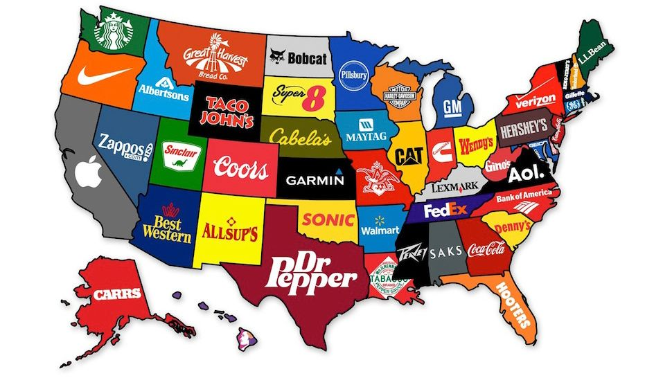 What The Most Famous Brands Are From Each State With Images