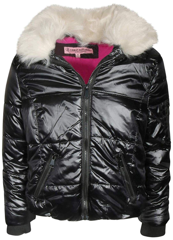 Girls Metallic Short Bomber Puffer Jacket Black Ce18is2l4si Metallic Shorts Puffer Jacket Black Puffer Jackets [ 1500 x 1084 Pixel ]