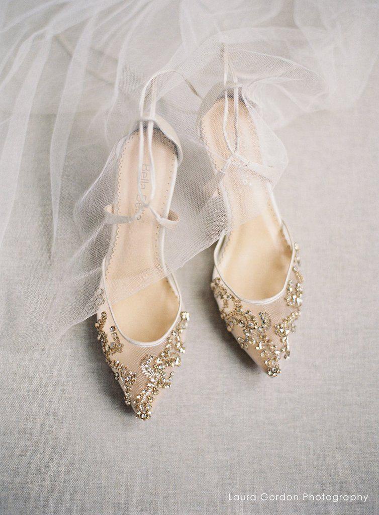 Jewel Low Heel Evening Shoes With Images Kitten Heel Wedding