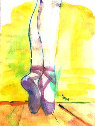Ilustración: Pies Bailarina (thumb) - Ilustraciones Mepol