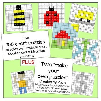 100s Chart Activities With Addition Subtraction And Multiplication Worksheets Hundreds Chart Addition And Subtraction Fun Math Adding on hundreds chart worksheets
