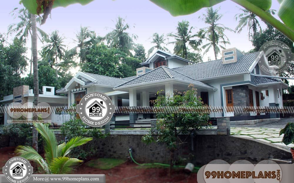 1 Floor Home Design With Large And Luxurious Mind Blowing Collections Of 3 Bedroom Home Arou Kerala House Design Beautiful House Plans Best Small House Designs