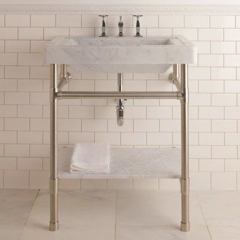 Stone Forest Console Sink Circa Marble Top In 2020 Console Sink