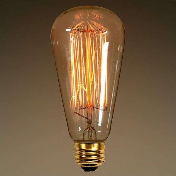 40W  Vintage Antique Light Bulb  Edison Style  Lighting Entrancing Kitchen Light Bulbs Decorating Design