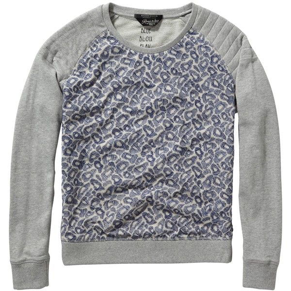 Maison Scotch Embroidered Mesh Sweatshirt, Multi (38.205 HUF) ❤ liked on Polyvore featuring tops, hoodies, sweatshirts, maison scotch, embroidered sweat shirts, ribbed top, embroidered mesh top and print sweatshirt