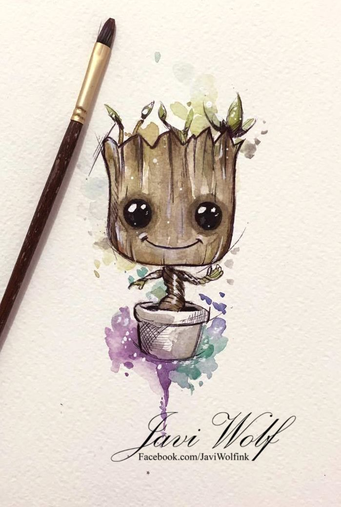 baby groot by javiwolfink art inspiration pinterest tattoos art and baby groot. Black Bedroom Furniture Sets. Home Design Ideas
