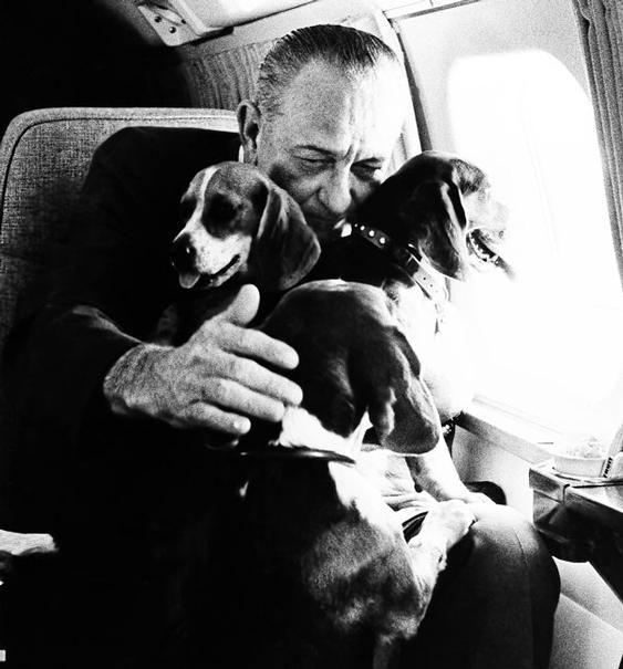 Freckles And Kim Lyndon Johnson President Lyndon Johnson Holds