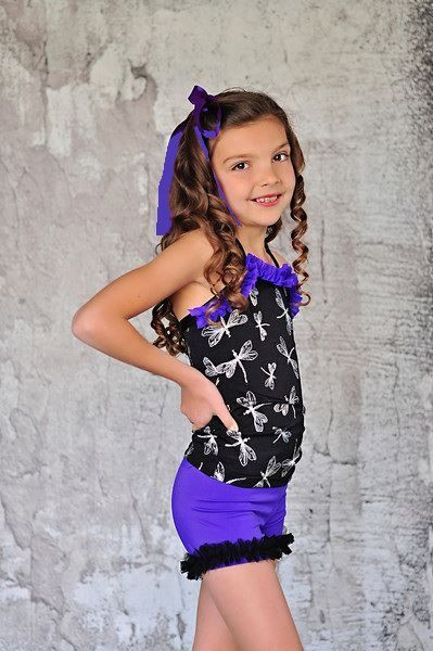 Lexi Luu Designs Dance Gymnastics Outfit Top and Bootie Short Set | eBay | jayden | Pinterest ...