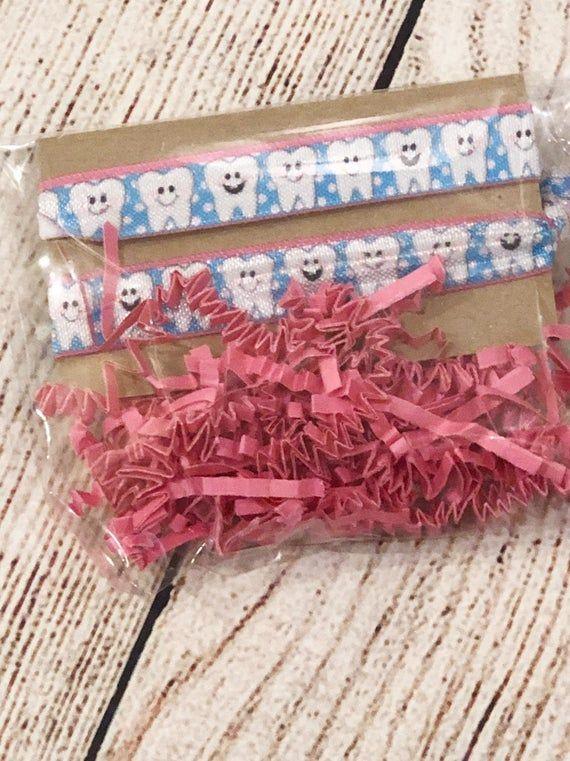 Dental assistant hair Tie Set-- dentist hair tie dental assistant gift--tooth fairy gift #dentalassistant