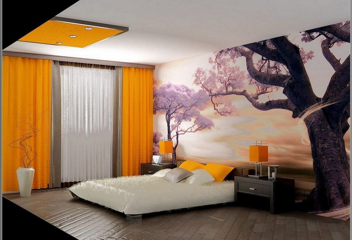 Delicieux Modern Wall Decorat Ion With Photo Wallpaper