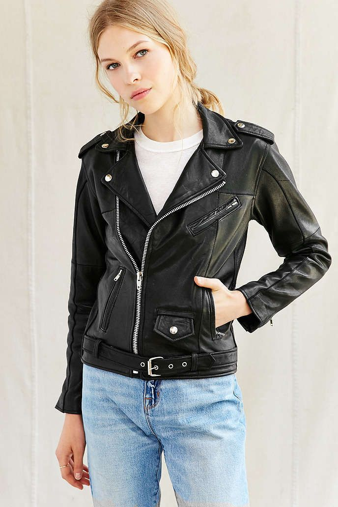 3444d6b56f58 PeleCheCoco Leather Moto Jacket   Style   Pinterest   Piel and Chaquetas