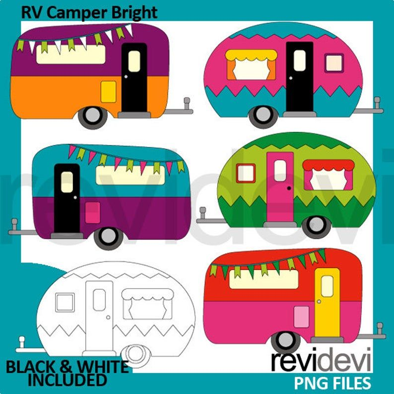 10+ Camper Clipart Black And White