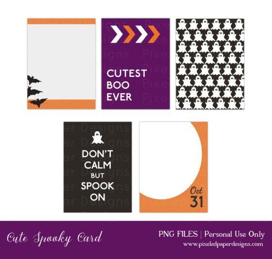 Free Printable Journal Card Spooky Halloween*