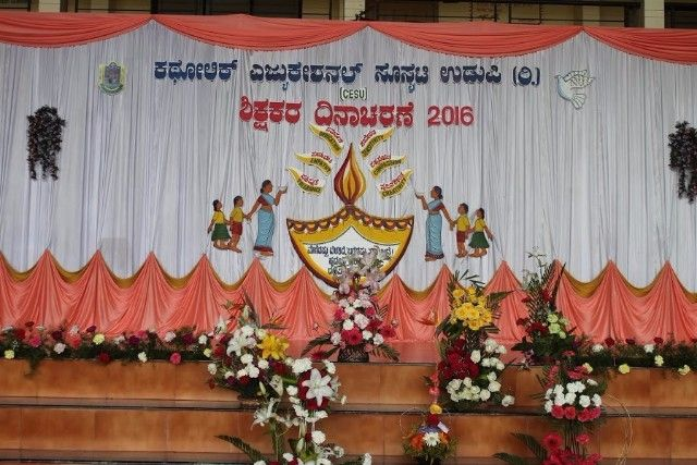 stage decoration for teachers day celebration కోసం