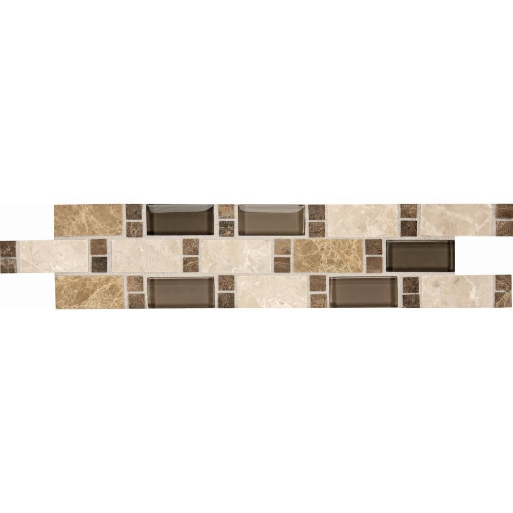Decorative Accent Tile Inspiration Daltile Stone Decor Parallel Vision 3 Inx 14 Instone And Glass 2018