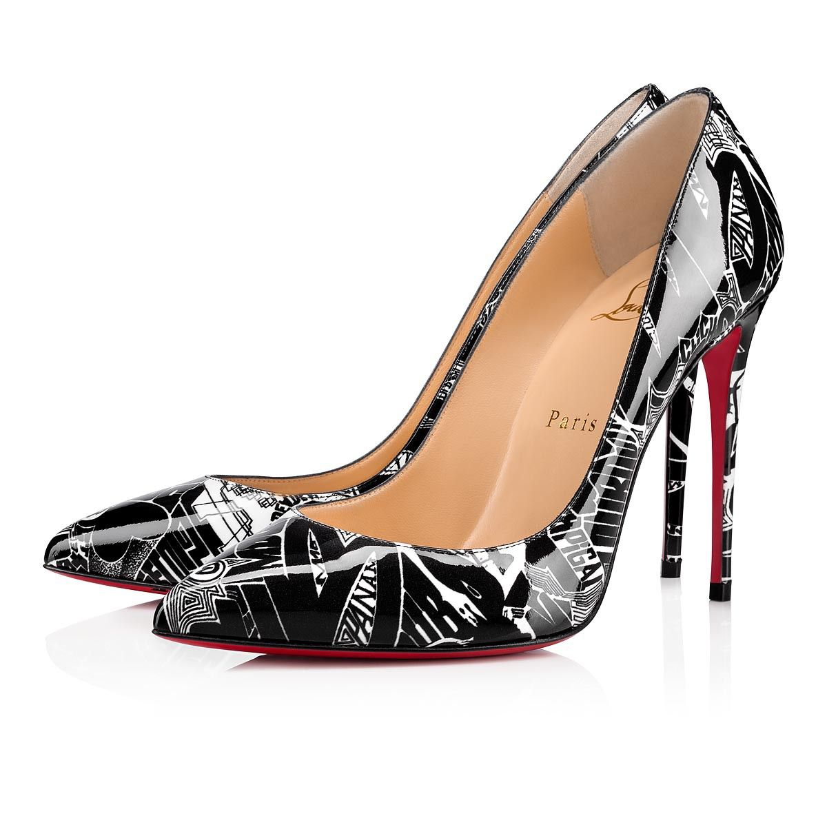 Christian Louboutin Spitz Pumps schwarz rot Elegant