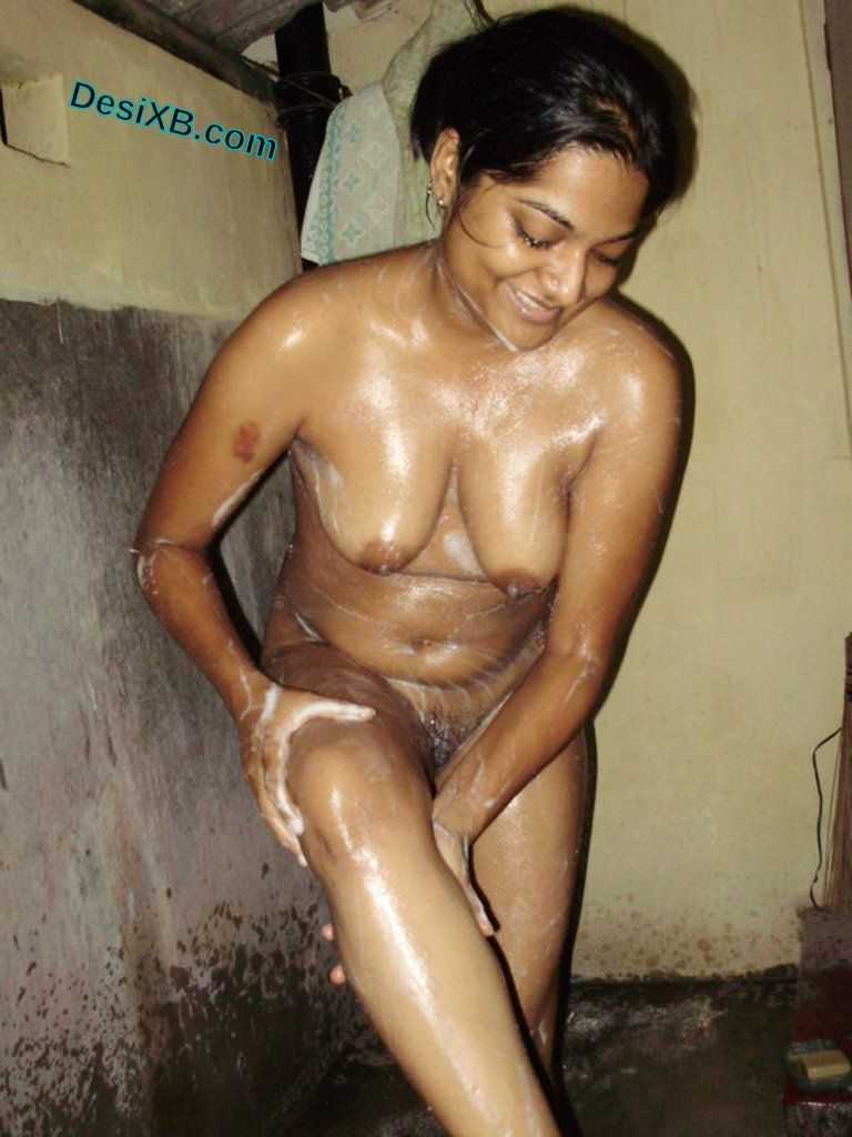 indian Bathing naked