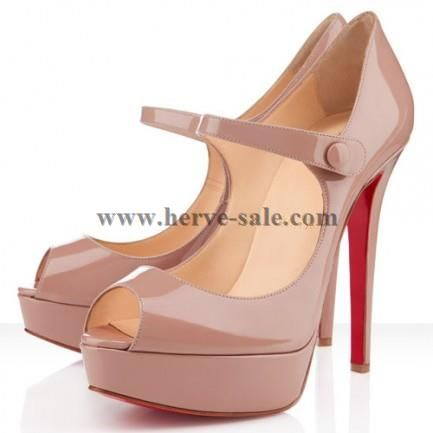 Christian Louboutin Bana 140mm Patent Leather Pumps Nude Australia Outlet  CL20140003P