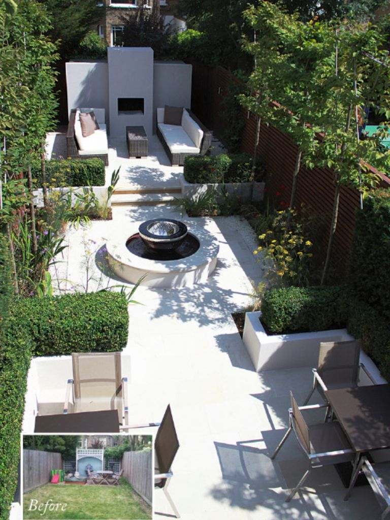 35 Modern Front Yard Landscaping Ideas With Urban Style: Just Thinking About The Idea Of A Seating Area At The Rear Of The Yard