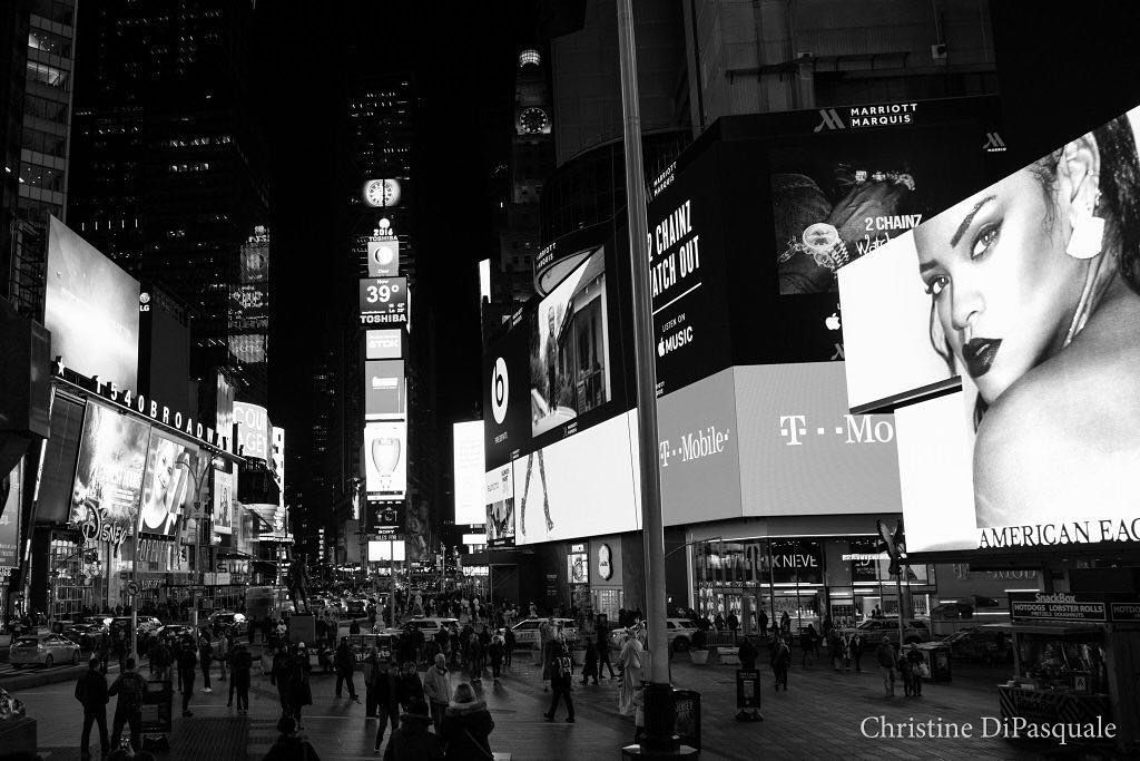 The Great White Way. #TimesSquare #nyc #nynights #nycnightlife #streetphotography #streetart #blackandwhite #blackandwhitephotography #theatrelife #theatre #mindfulness #bw #bigapple #manhattan #thereisbeautyeverywhere #meditation #quote #poetry by cdpnyc