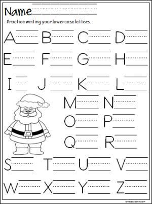 Santa Capital Letter Writing Practice | Writing practice, Pre-school ...