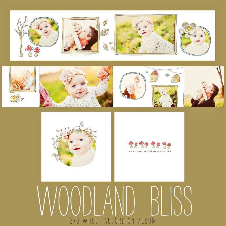 Woodland Bliss 3x3 WHCC Accordion Album | Photo | Pinterest