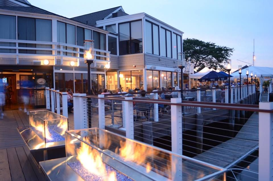 BLU with the fire pits lit! #waterfront #fire #restaurant