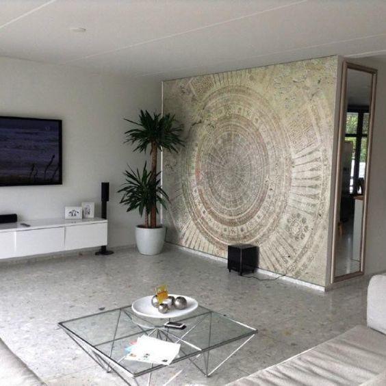 Wall and deco mandala fotobehang pinterest fotobehang decoratie en voor het huis - Deco tv muur ...