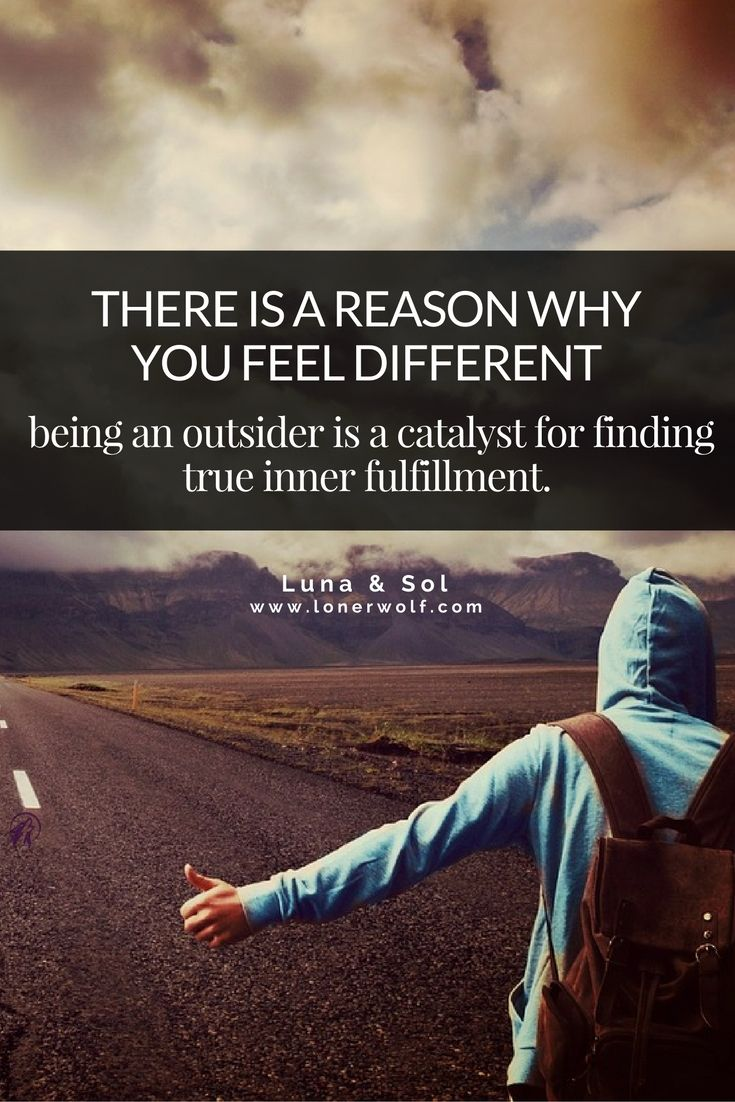 do you ever feel like an outsider looking in? here's why