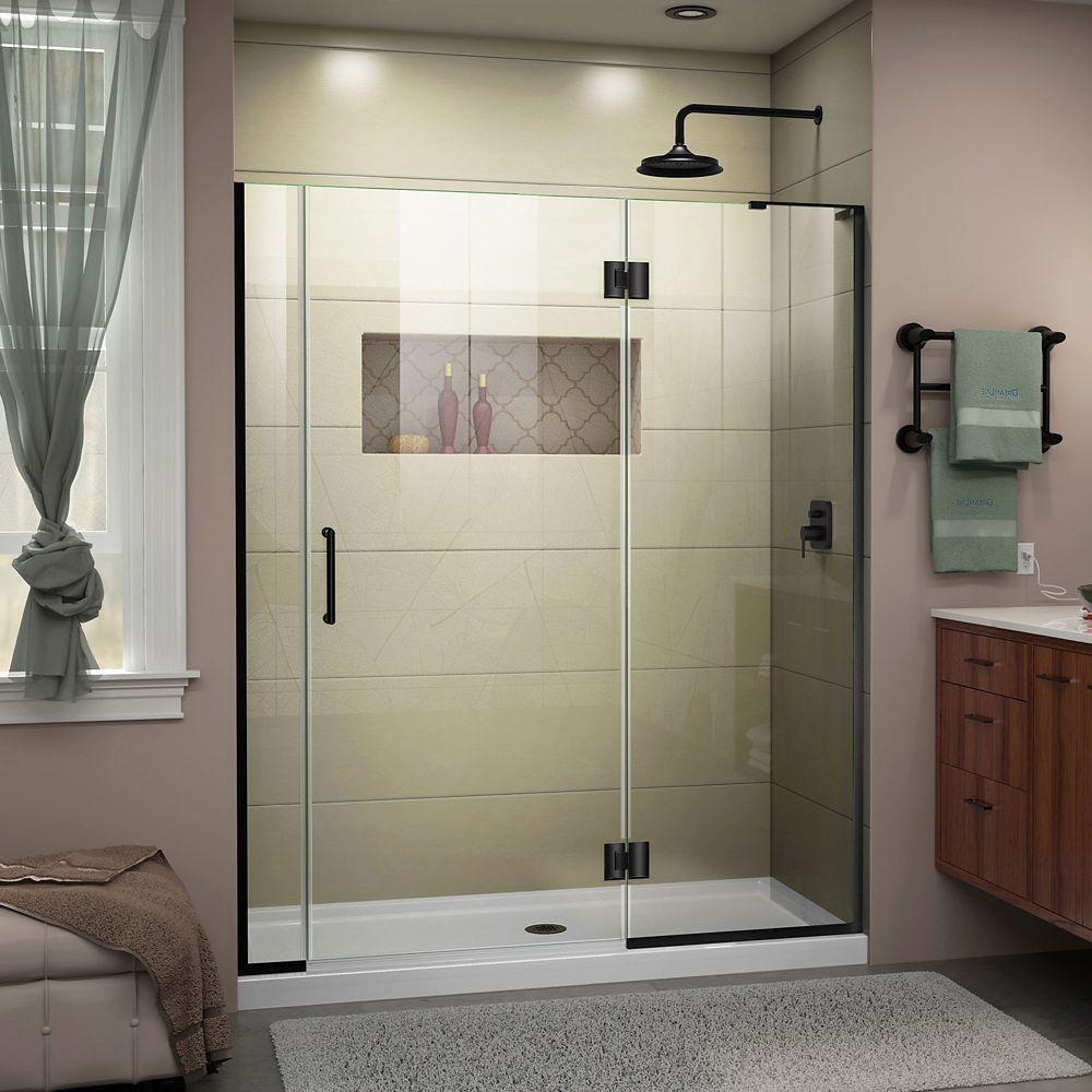 Unidoor X 54 54 1 2 Inch W X 72 Inch H Frameless Shower Door In