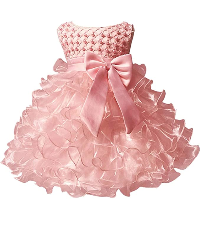 princess dress Pink lace first birthday dress Beautiful baby girl outfit 2nd birthday outfit toddler dress