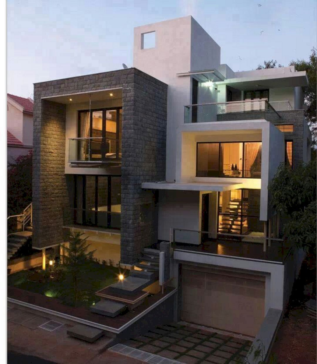 House With Underground Garage Decoredo House Designs Exterior Facade House House Exterior