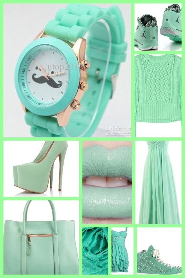 Love this green outfit