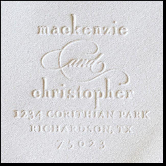 Embosser Stamp Wedding Paper Divas