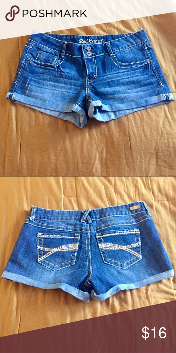 """Red Camel Shorts Red Camel Denim shorts.  EUC!  3"""" inseam.  Lots of stretch.  All my items are from a smoke free home and offers are always welcome 🛍☀️️🛍 Red Camel Shorts"""