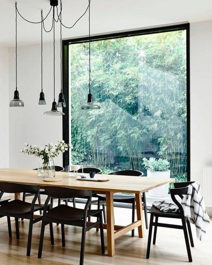 1001 ideas para decoracion de comedores en diferentes for Sillas cocina negras