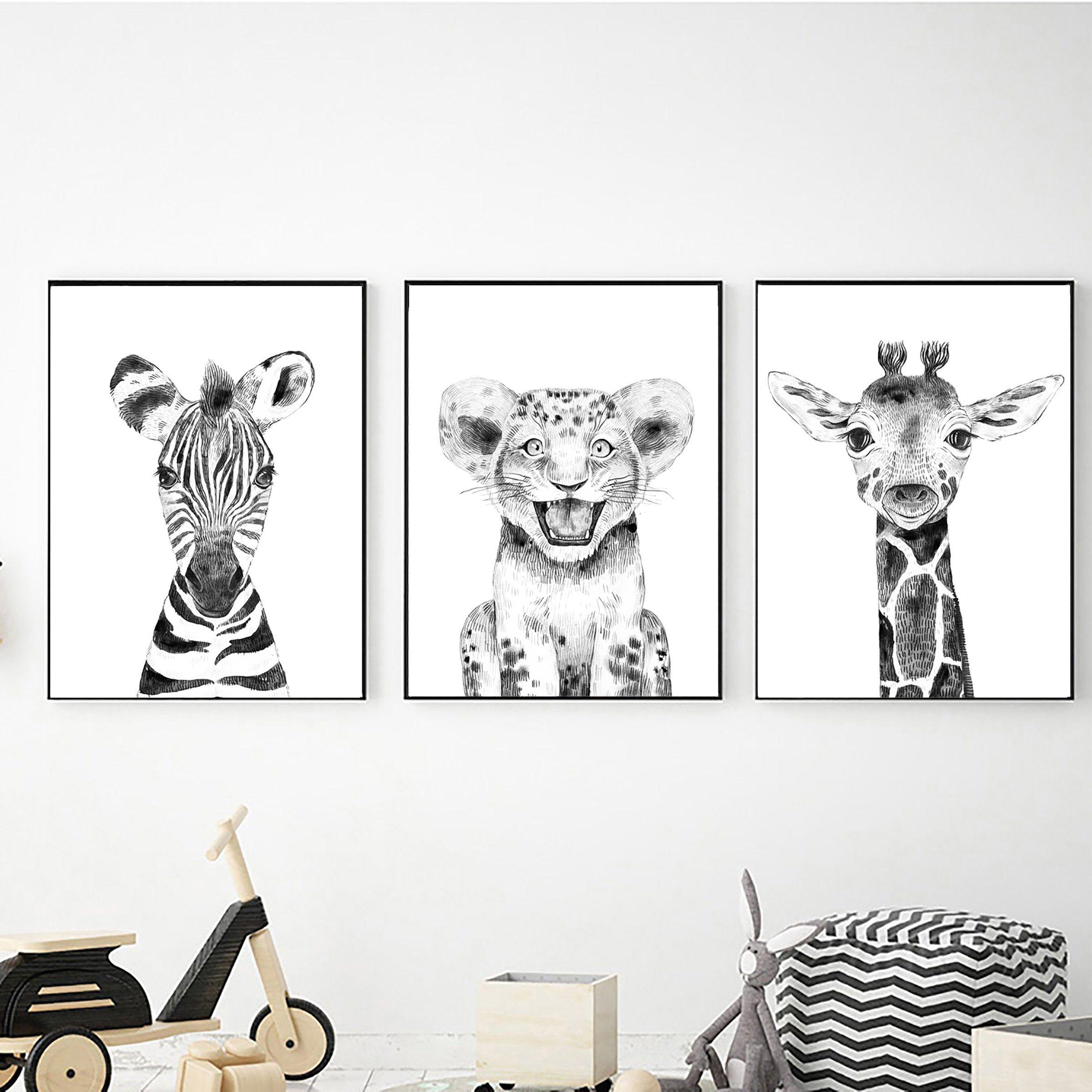 Pin By Nursery Decor Printable Wall On Baby Safari Animal Wall Art Safari Wall Art Animal Wall Art