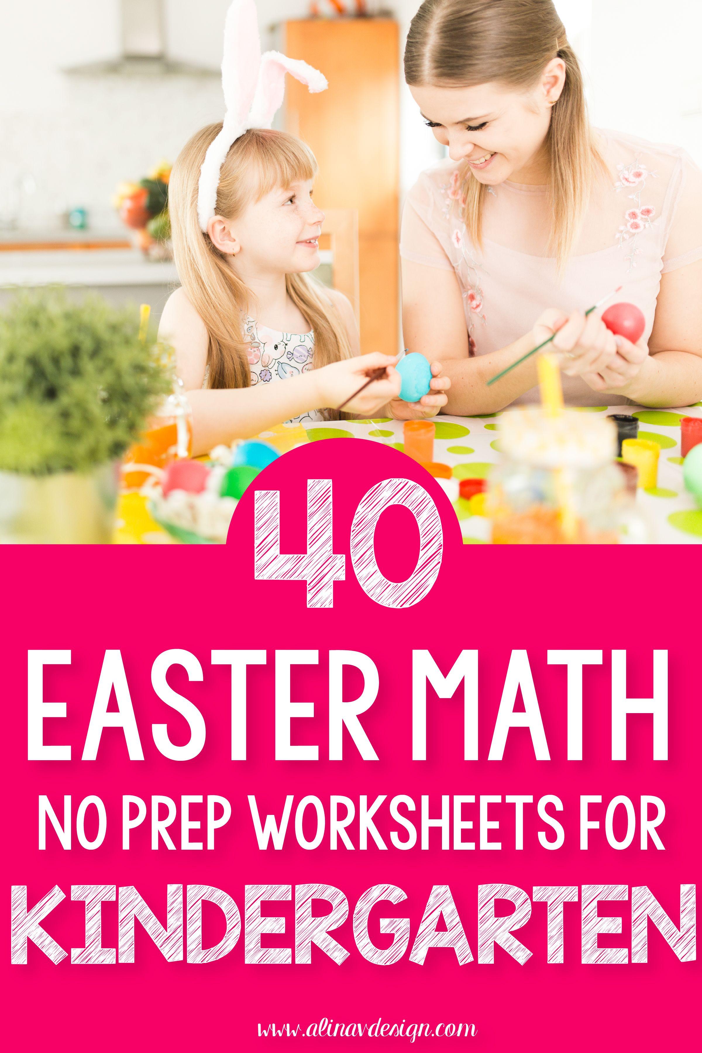 Easter Activities For Kindergarten Easter Math Worksheets Tpt