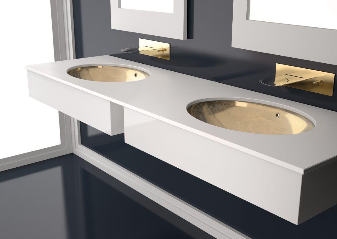 Vasque A Encastrer Sous Plan Flou En Crystal By Glass Design Vasque A Encastrer Douche Sous La Douche