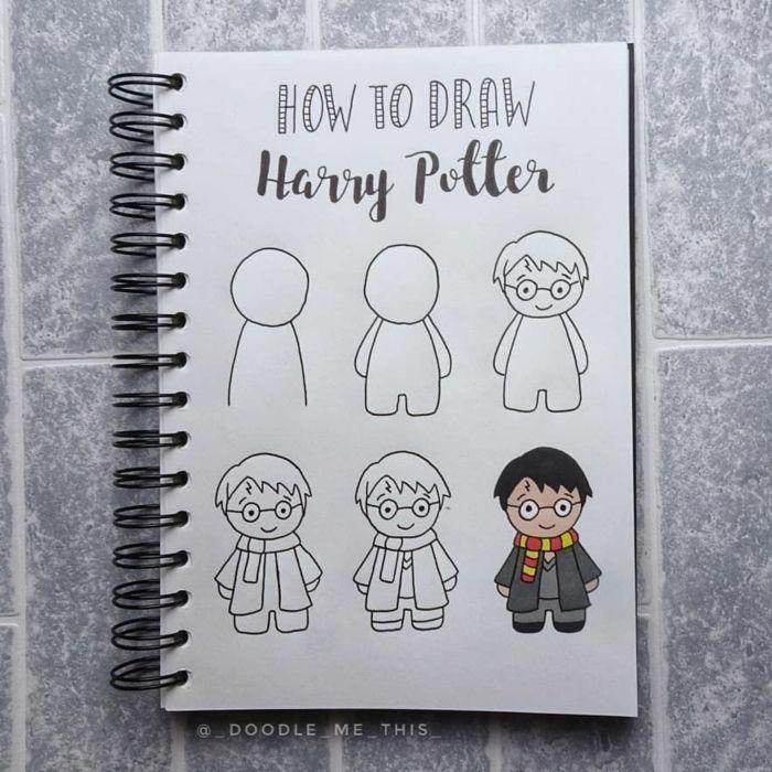 1001 Ideas De Dibujos De Harry Potter Magicos En 2020 Como Dibujar Un Libro Dibujos Sencillos Dibujos De Harry Potter