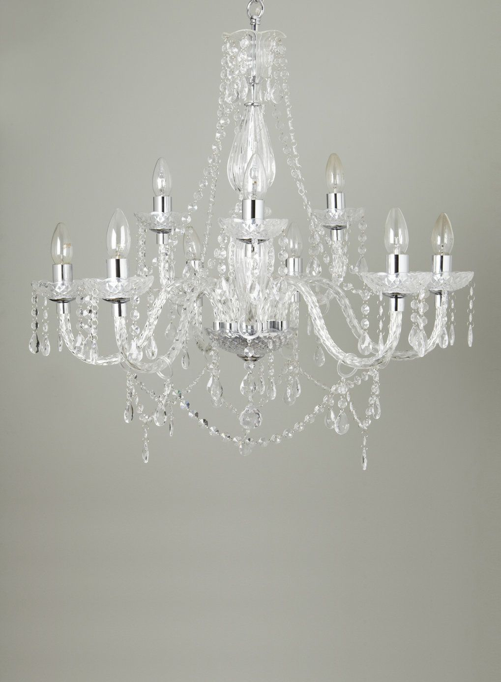Chrome Bryony 9 light Chandelier - Chandeliers - Ceiling Lights ...