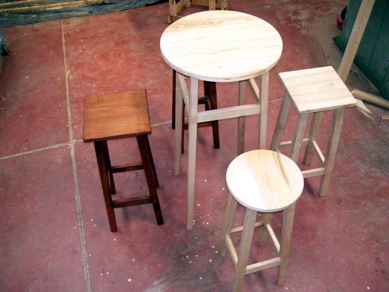 Tavolo botte in legno aperta per bar cod ttb briganti srl